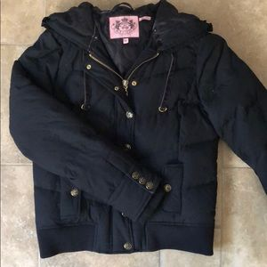 Juicy Couture black winter jacket